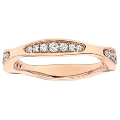 18 Karat Rose Gold Donna Marquise Shape Diamond Ring '1/4 Carat'