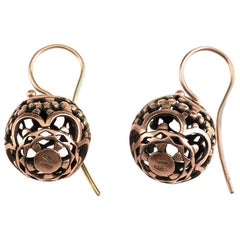 18 Karat Rose Gold Earrings