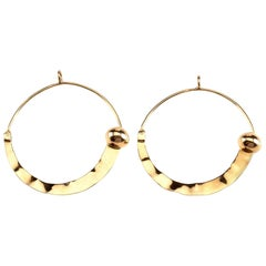 18 Karat Rose Gold Earrings Hoop Earrings