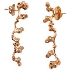 18 Karat Rose Gold Earrings with Diamonds 'Carat 0.20'