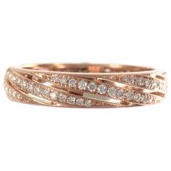 18 Karat Rose Gold Endless Circle Diamond Eternity Band Ring Chavana Collection