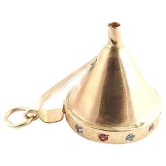 18 Karat Rose Gold Funnel Charm