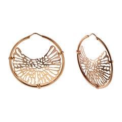 18 Karat Rose Gold Gr. 10.50 Hoop, Earrings