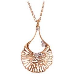 18 Karat Rose Gold Gr. 22.75, Diamonds Carat 0.36, Necklace