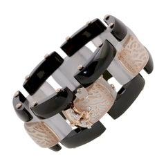 18 Karat Rose Gold Gr. 23.50, Diamond Carat 0.09, Luce Stone, Bracelet