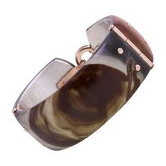 18 Karat Rose Gold Gr. 7.35, 925 Silver, Polychrome Jasper, Bracelet