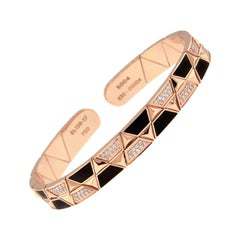 18 Karat Rose Gold Hand Painted Evolve Lava Bracelet by Alessa