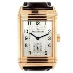 18 Karat Rose Gold Jaeger-LeCoultre Wristwatch, Reverso, Ref. 270.2.62