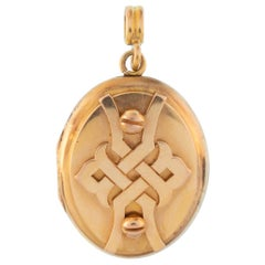 18 Karat Rose Gold Knot Motif Locket