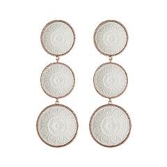 18 Karat Rose Gold Vermeil Cameo Earrings