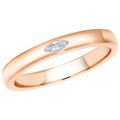 18 Karat Rose Gold Marquise Diamond Cocktail Ring