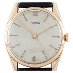 18 Karat Rose Gold Men's Roamer Automatic Watch with Leather Band