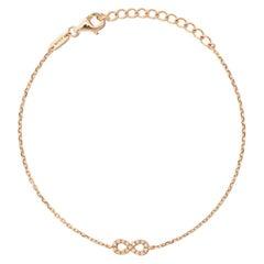 18 Karat Rose Gold Miami Infinity Diamond Bracelet