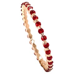 18 Karat Rose Gold Orange Sapphires Garavelli Ring