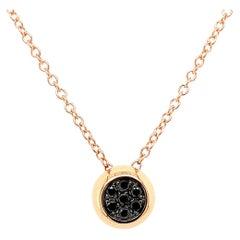 18 Karat Rose Gold Pavè Black Diamond Garavelli Giotto Necklace
