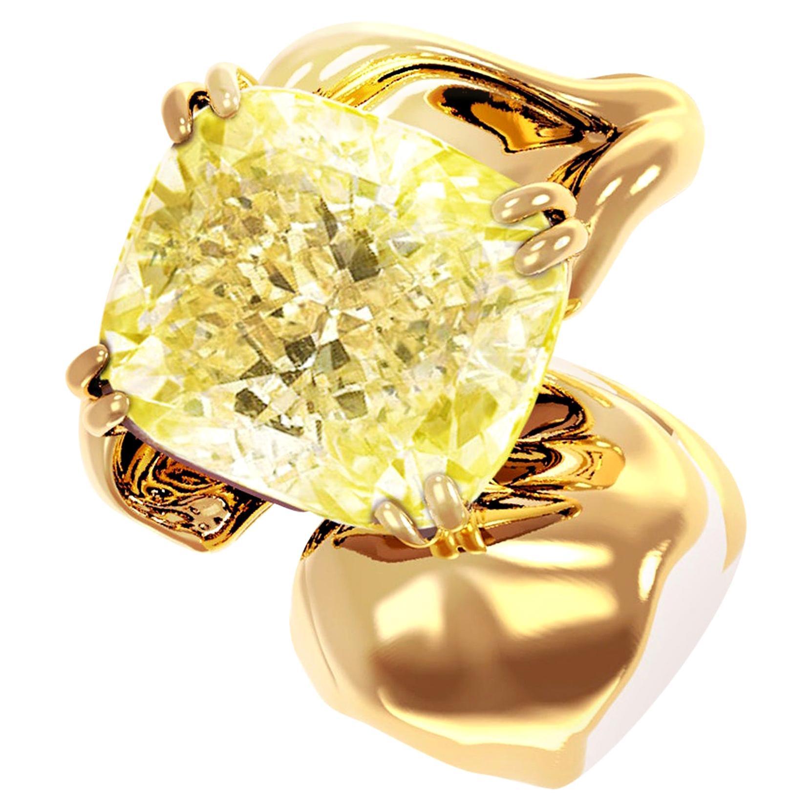 18 Karat Rose Gold Pendant Necklace with 1 Carat GIA Certified Yellow Diamond