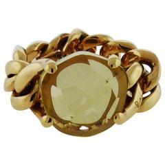 18 Karat Rose Gold Peridot Ring by Pomellato
