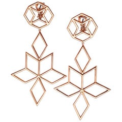 18 Karat Rose Gold Pink Gold Earrings AENEA Jewellery