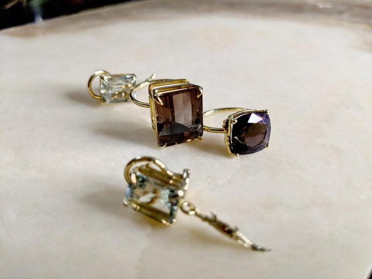 Artist 18 Karat Rose Gold Ring with 4.6 Carat Purple Spinel For Sale