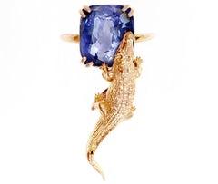 18 Karat Rose Gold Ring with GIL Cert. 7.96 Cts Cornflower Sapphire