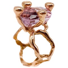 18 Karat Rose Gold Ring with Kunzite