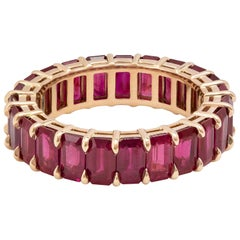 Roman Malakov 18 Karat Rose Gold Ruby Eternity Wedding Band