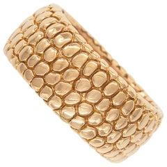 """18 Karat Rose Gold """"Shagrin"""" Ring by Gemlok"""