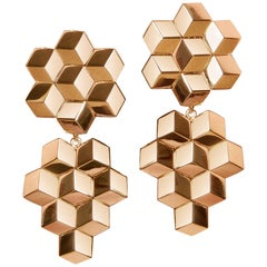 18 Karat Rose Gold Signature Brillante Earrings, Grande