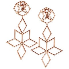 18 Karat Rose Gold Star Earrings Aenea Jewellery