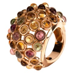 18 Karat Rose Gold Tourmaline Ring
