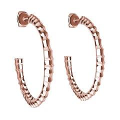 18 Karat Rose Gold Vetebrae Hoop Earrings