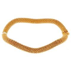 18 Karat Rose Gold Vezzaro Classic Bangle Bracelet