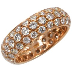 18 Karat Rose Gold White Diamonds Eternal Garavelli Band Ring