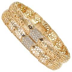 18 Karat Rose Gold White Diamonds Garavelli Bracelet