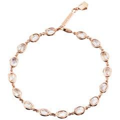 Paolo Costagli 18 Karat Rose Gold White Sapphire 8.50 Carat Ombre Bracelet