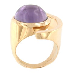 18 Karat Rose Gold with Amethyst Ring