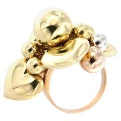 18 Karat Rose Yellow and White Gold Ring