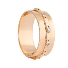 18 Karat Gold White Diamonds 0.15 Carat Engagement Wedding Band Ring