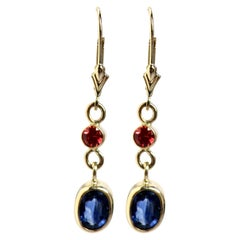 18 Karat Sapphire Earrings