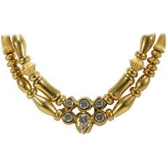 18 Karat Seidengang Diamond Necklace Yellow Gold 1.00 Carat
