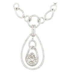 18 Karat Simon G Diamond Necklace Enhancer White Gold