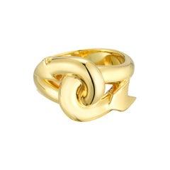 18 Karat Solid Gold Jumbo Arrow Ring