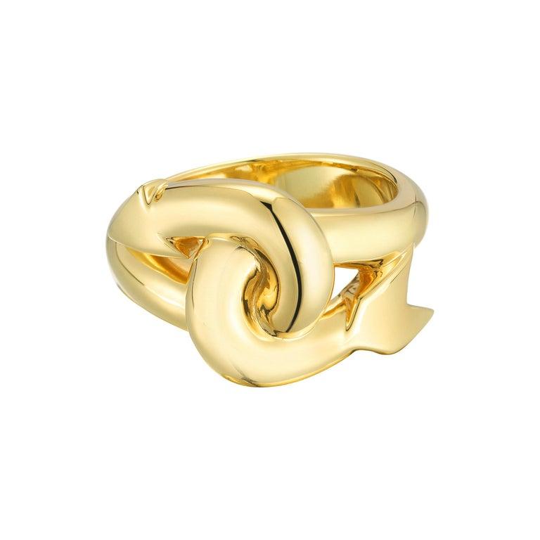 Solid-gold jumbo arrow ring