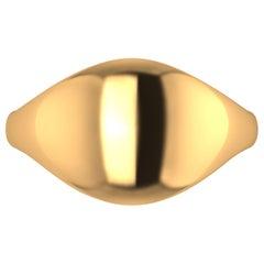 18 Karat Solid Yellow Gold Organic Ring