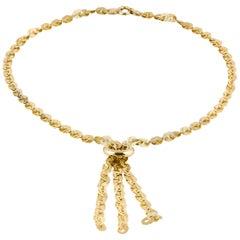 18 Karat Tassel Necklace
