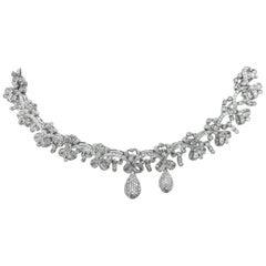 18 Karat Tiara Round Diamond Bracelet