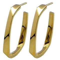 Tiffany & Co. 18 Karat Hoop Earrings