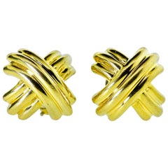 """18 Karat Tiffany & Co. """"Kiss"""" Earrings"""