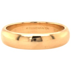 18 Karat Tiffany & Co. Wedding Band Yellow Gold