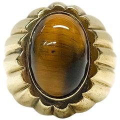 18 Karat Tiger's Eye Ring